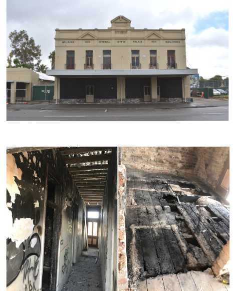 Copy of Copy of Exterior image from 2020 Interior image of fire damage and neglect